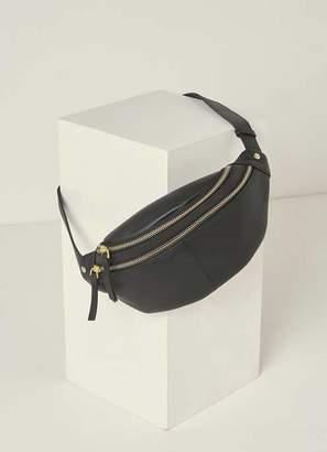 cbef4f42de50 Mint Velvet Fiona Black Leather Zip Bumbag