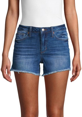 Joe's Jeans Janessa Mid-Rise Cut-Off Denim Shorts