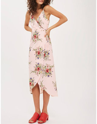 Topshop Anna Rocks floral-print crepe wrap dress
