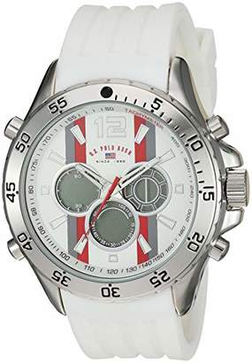 U.S. Polo Assn. Men's Quartz Stainless Steel and Rubber Watch