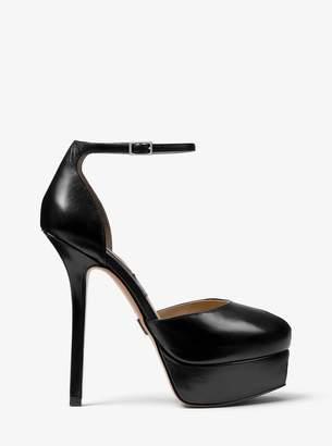 Michael Kors Shaleen Calf Leather Platform Pump