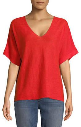 Eileen Fisher Organic Linen Knit Top