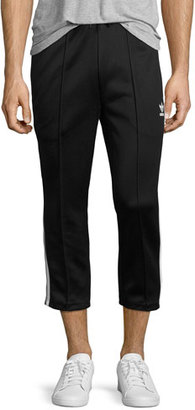 Adidas Superstar Relaxed-Fit Cropped Track Pants, Black $70 thestylecure.com