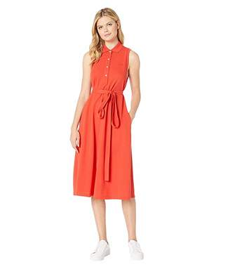 Lacoste Sleeveless Belted Pique Polo Dress