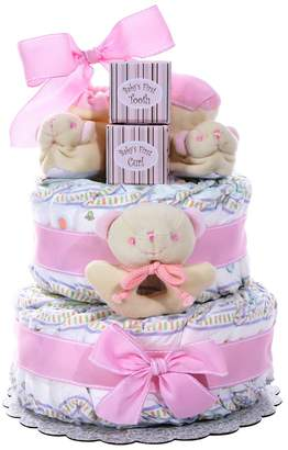 Kohl's Baby Cakes 2 Tier Diaper Cake Gift Basket - Girl