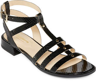 Liz Claiborne Womens Fairfield Adjustable Strap Flat Sandals