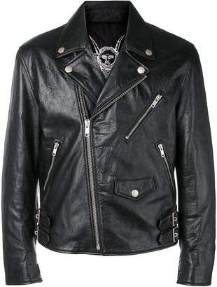 Givenchy zipped leather jacket