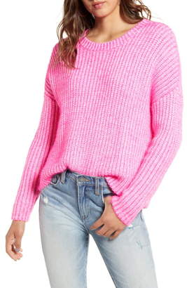 GOOD LUCK GEM Two Tone Sweater