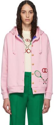 Gucci Pink Tennis Logo Hoodie