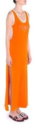 Fendi Logo Knit Tank Dress