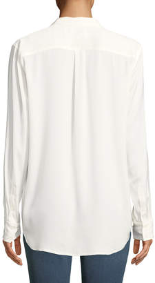 Equipment Keira Satin Button-Down Blouse