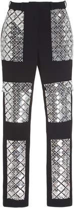 David Koma Pearl Embroidered Pants