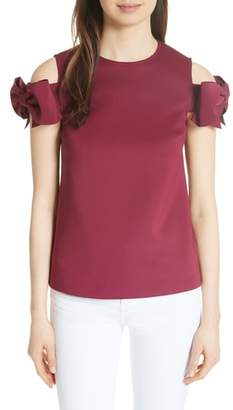 Ted Baker Mendoll Bow Sleeve Cold Shoulder Top
