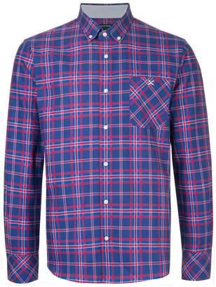 GUILD PRIME striped collared shirt