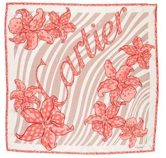 Cartier Floral Silk Scarf w/ Tags