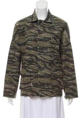 Current/Elliott Camouflage Print Utility Jacket w/ Tags