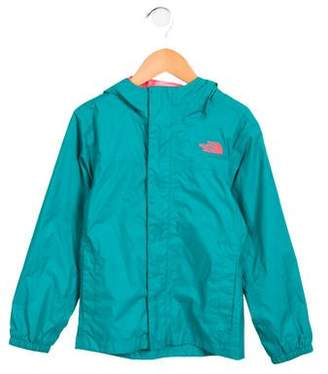 The North Face Girls' Hooded Rain Coat