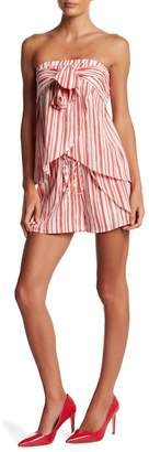 L'Atiste Front Bow Strapless Blouse & Shorts 2-Piece Set