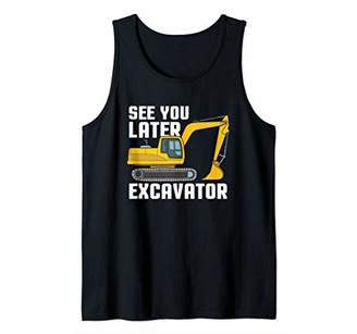 Equipment See You Later Excavator Gift Toddler Boy Kid Heavy Tank Top