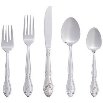 Asstd National Brand RiverRidge Rose 46PC Personalized or SolidFlatware Set