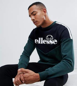 Ellesse Chevron Sweatshirt With Side Stripe In Green