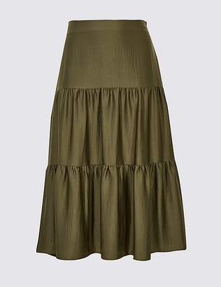 Marks and Spencer CURVE Tiered Full Maxi Skirt