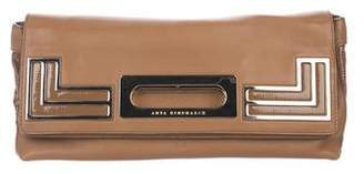 Anya Hindmarch Leather Foldover Clutch