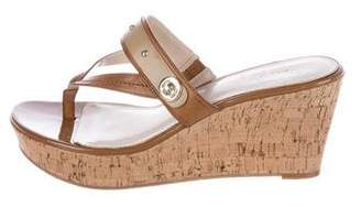 Marc Fisher Thong Wedge Sandals