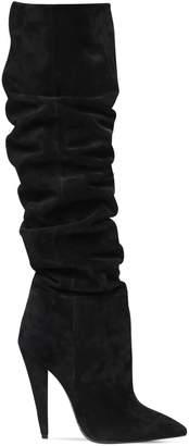Saint Laurent 115mm Era Slouchy Suede Boots