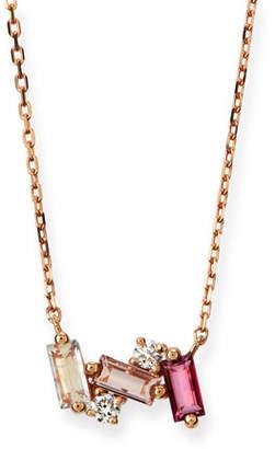 Suzanne Kalan KALAN by 14k Rose Gold Mini Moonstone & Topaz Fireworks Necklace