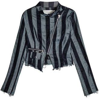 Marques Almeida Marques' Almeida Asymmetric Jacket in Cotton and Linen