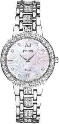 Seiko Women's Stainless Crystal Solar BraceletWatch