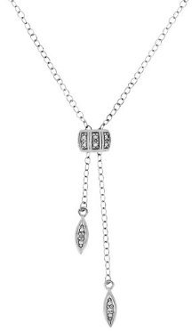 Sterling Silver Diamond Accent Lariat Necklace