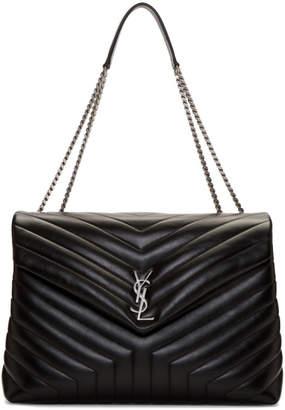 Saint Laurent Black Large Loulou Chain Bag