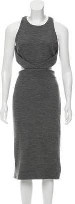 Cushnie et Ochs Cutout Wool Dress