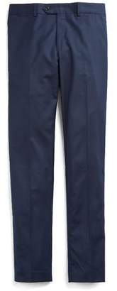 Todd Snyder Stretch Wool Tab Front Trouser in Navy