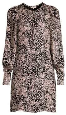 Rebecca Taylor Women's Leopard Shift Dress - Champagne - Size 0
