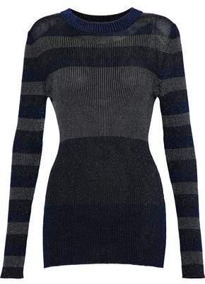 Sonia Rykiel Color-Block Metallic Ribbed-Knit Top