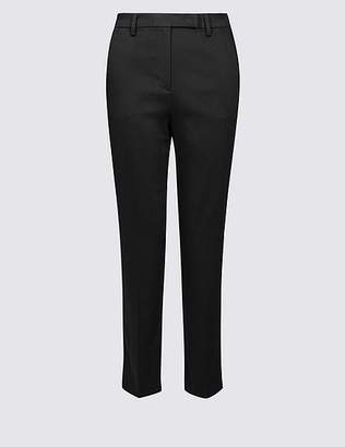 Marks and Spencer Cotton Rich Slim Leg 7/8th Crop Trousers