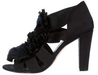 Opening Ceremony Ruffle Cage Sandals