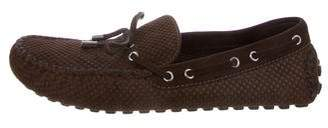 Louis Vuitton Suede Damier Driving Loafers