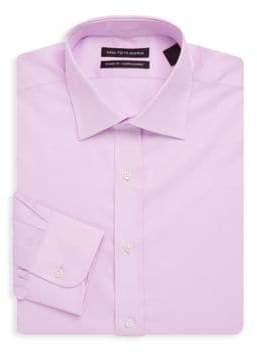 Saks Fifth Avenue Diamond Textured Cotton Dress Shirt