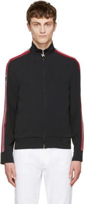 MSGM Black Striped Tape Zip Track Jacket $520 thestylecure.com