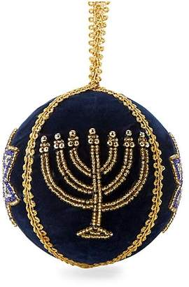 Dacor Sudha Pennathur Holiday 2018 Hanukkah Menorah Ball Ornament