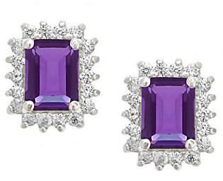 Premier Emerald Cut 1.60cttw Amethyst Earrings,