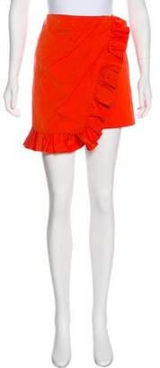 Pinko Ruffle-Accented Mini Skirt