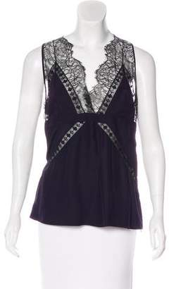 Barbara Bui Lace-Trimmed Sleeveless Top w/ Tags