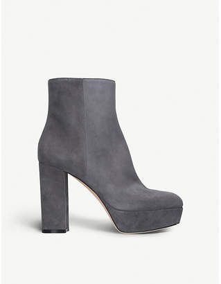 Gianvito Rossi Foley platform suede ankle boots