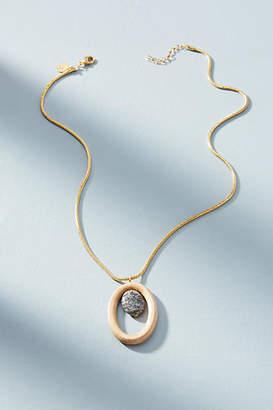 Sophie Monet Silver Lace Agate Necklace