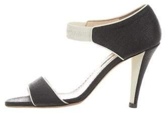Oscar de la Renta Woven High-Heel Sandals
